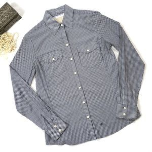 BANANA REPUBLIC Navy Blue Gingham Shirt
